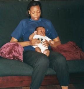 Sarai & Noah, November 2003. (Donald Earl Collins).