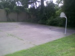 One of the full courts (minus a hoop) at Forest Glen Park, July 30, 2010 (Donald Earl Collins)