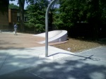 The other end of the basketball court and the skateboard park (again, minus a fence), Woodside Park, August 8, 2010 (Donald Earl Collins)