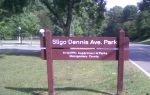 Sligo Dennis Ave Park sign, Sligo Creek Parkway, Silver Spring, MD, September 23, 2010 (Donald Earl Collins)