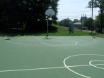 The full court's slope from left to right, Jessup-Blair Park, August 10, 2010 (Donald Earl Collins)