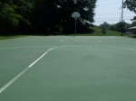 Another picture of the full court's tilt, this time from the far ends of the court (a downhill view), Jessup-Blair Park, August 10, 2010 (Donald Earl Collins)