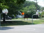 The hoops facing Philadelphia Avenue, Silver Spring Intermediate Park, Silver Spring, MD, August 10, 2010 (Donald Earl Collins)