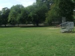 Soccer/softball field and bleachers, Belle Ziegler Park, September 17, 2010 (Donald Earl Collins)