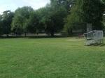 Soccer/softball field and bleachers, Belle Ziegler Park, September 17, 2010 (Donald Earl Collins)
