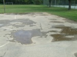 Asphalt surface of basketball courts, Meadowbrook Park, September 17, 2010 (Donald Earl Collins)