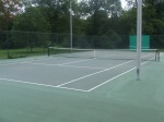 One (1) of the four (4) gated tennis courts at Meadowbrook Park, September 17, 2010 (Donald Earl Collins)
