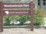 Meadowbrook Park Sign, Chevy Chase, MD, September 17, 2010 (Donald Earl Collins)