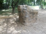 A minature fake boulder for children to climb as part of renovation, Montgomery Hills Park, September 17, 2010 (Donald Earl Collins)