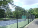 Renovated tennis court, including new gate, Montgomery Hills Park, September 17, 2010 (Donald Earl Collins)