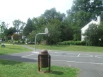 The one full basketball court at Montgomery Hills Park (note the uphill-downhill slope of the court), Silver Spring, MD, September 17, 2010 (Donald Earl Collins)