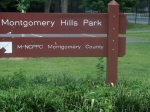 Montgomery Hills Park sign, Silver Spring, MD, September 17, 2010 (Donald Earl Collins)