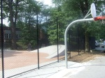 The back end of the court, this time with a fence separating it from the skateboard park, Woodside Park, September 17, 2010 (Donald Earl Collins)