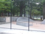 Another view of the skateboarding park and the new fence, Woodside Park, September 17, 2010 (Donald Earl Collins)