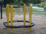 Renovations to the playground area, including a bouncing apparatus, Woodside Park, September 17, 2010 (Donald Earl Collins)