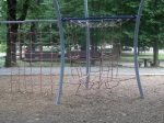 A climbing area that had been recently installed as part of the playground renovations, Woodside Park, September 17, 2010 (Donald Earl Collins)