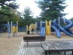 A fuller shot of the new equipment in the playground area, Woodside Park, September 17, 2010 (Donald Earl Collins)