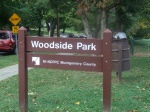 Woodside Park sign, Downtown Silver Spring, MD, September 17, 2010 (Donald Earl Collins)