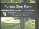Forest Glen Park Sign, Silver Spring, MD, September 25, 2010 (Donald Earl Collins)