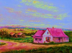 Little Pink Houses, Carole Spandau, Uploaded October 21, 2010. Source: http://fineartamerica.com