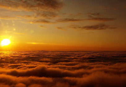 Sunset Over Clouds (feeling of soaring), December 2, 2010. Source: http://www.writeideaonleadership.com