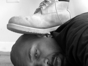 Foot On My Neck & Head, symbolic of my years as a Hebrew-Israelite (also of grad school), April 18, 2011. (Donald Earl Collins).