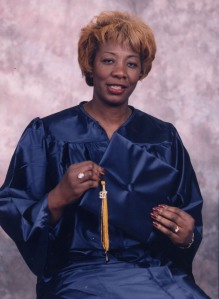 My Mother's Associate's Degree Photo, Westchester Business Institute, May 12, 1997.
