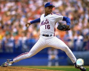 "Dwight Gooden, aka, ""Dr. K,"" Shea Stadium, 1986. (Source/http://itsonbroadway.wordpress.com/2011/05/16/dwight-gooden-aka-dr-k/)."