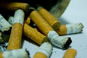 Marlboro cigarette butts, September 19, 2007. (bachmont via Wikipedia/Flickr.com). In public domain.