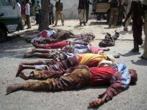 Mogadishu (Somalia) suicide bomb victims, January 24, 2009. (Ontdek Islam website).