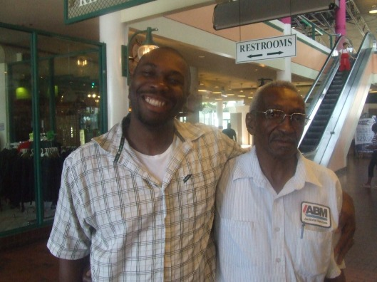 Me and My Father Jimme, Mall, Jacksonville Waterfront, August 27, 2007. (Angelia N. Levy).