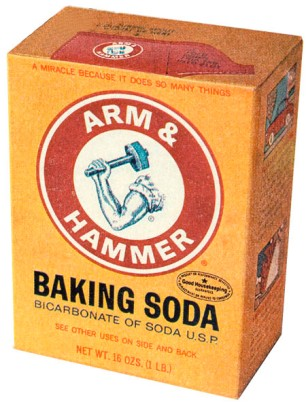 Arm & Hammer Baking Soda, 1lb Box, circa 1970s, February 6, 2013. (http://wackypackages.org).