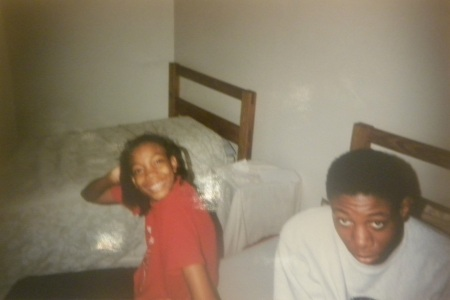 Sarai (with Maurice) at 12 years old, Yonkers, NY, November 21, 1995. (Donald Earl Collins).