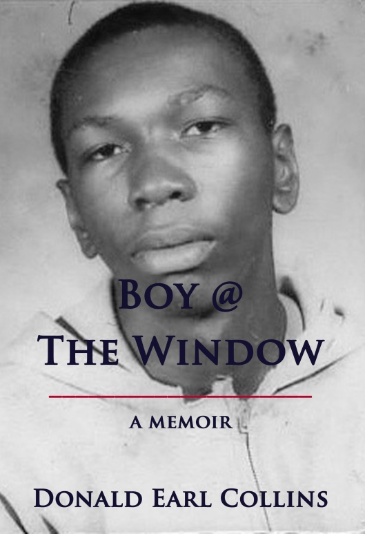 Book Cover (version 9.5 officially) for Boy @ The Window, March 7, 2013. (Donald Earl Collins).