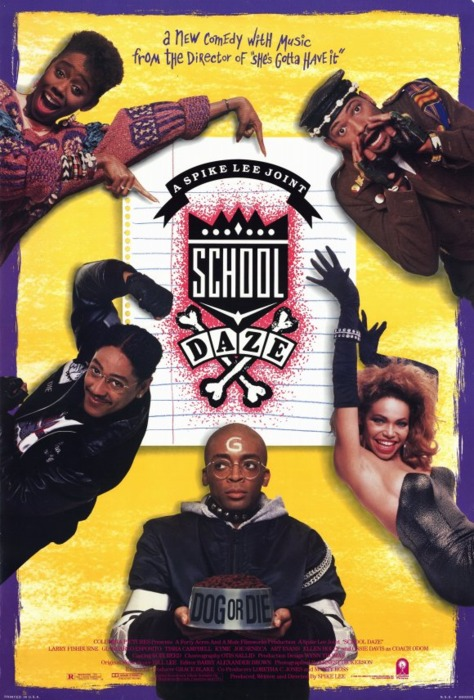 School Daze (1988) movie poster, September 17, 2012. (QuasyBoy via Wikipedia). Qualifies as fair use under US Copyright laws, as depicts subject of blog, is scaled-down and is of low-resolution.