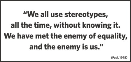 Stereotype quote taken from Annie Murphy Paul article (May 1998) in Psychology Today, January 16, 2011. (http://nwso.net/). In public domain.