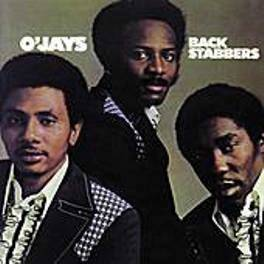 O'Jays Back Stabbers (1972) album cover, November 10, 2011. (Dan56 via Wikipedia). Qualifies as fair use as low-resolution illustration of subject matter.
