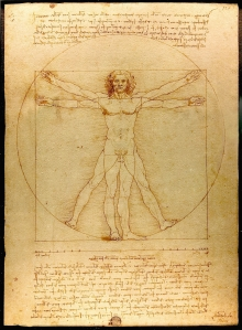 Leonardo di Vinci's Human Body sketch, June 18, 2013. (Wikipedia).