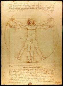 Leonardo di Vinci's Human Body sketch, June 18, 2013. (Wikipedia).