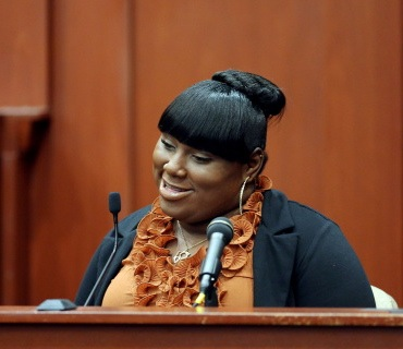 Witness Rachel Jeantel continued her testimony,  George Zimmerman trial, Sanford, FL, June 27, 2013. (Jacob Langston, AP/Orlando Sentinel; http://time.com).