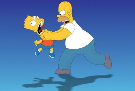 Homer strangles Bart (again), The Simpsons, February 2011. (http://www.goodwp.com/).