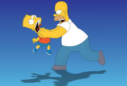 Homer strangles Bart (again), The Simpsons, February 2011. (http://www.goodwp.com/).