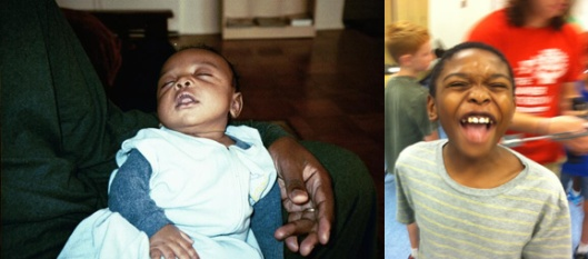Two different Noahs, nearly 10 years apart, August 21, 2003 and July 26, 2013. (Angelia N. Levy and Donald Earl Collins).