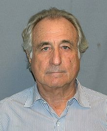 Bernie Madoff (mugshot), the ultimate get-rich-quick scam artist, March 16, 2009. (US Department of Justice via Wikipedia). In public domain.