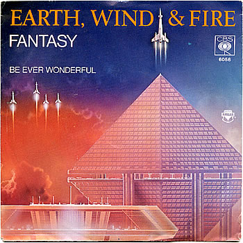 "n  Cover of Earth, Wind & Fire's single ""Fantasy"" (1978), February 29, 2008. (Columbia Records). Qualifies as fair use due to low resolution and subject matter of this blog post."