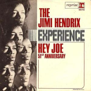 "Cover for The Jimi Hendrix Experience's ""Hey Joe"" single, February 28, 2010. (Kohoutek1138 via Wikipedia). Qualifies as fair use because of picture's low resolution."
