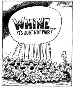 """Whine...it's just not fair!"" cartoon, October 1998. (http://allpolitics.com)."