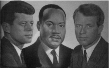 A facsimile of the JFK, MLK & RFK painting that used to hang over many a Black home's mantle, August 27, 2013. (http://robertktanenbaumbooks.com).