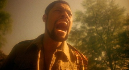 "Laurence Fishburne yelling ""Wake up!"" at end of movie School Daze (1988), December 9, 2009. (screenshot via Tumblr.com). Qualifies as fair use due to low resolution and clarity of picture."