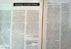 Letters to the Editor, Black Issues in Higher Education, September 23, 1993. (Donald Earl Collins).